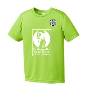 Lee County Strikers Youth Training Jersey - Lime Shock LCS-ST350LYLC
