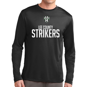 Lee County Strikers Long Sleeve Performance Shirt - Black ST350LS-LCS