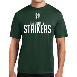 Lee County Strikers Short Sleeve Performance Shirt - Forest Green Lee-PTee