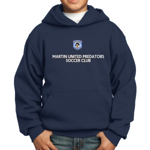 Martin United Youth Hooded Sweatshirt - Navy PC90YH-MU