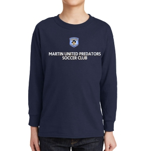 Martin United Youth Long Sleeve T-Shirt - Navy 5400B-MU