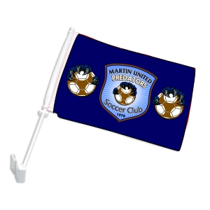 Martin United Custom Car Flag CRFL-MU
