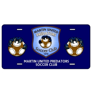 Martin United Custom License Plate LCPLT-MU