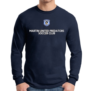 Martin United Long Sleeve T-Shirt - Navy G5400-MU