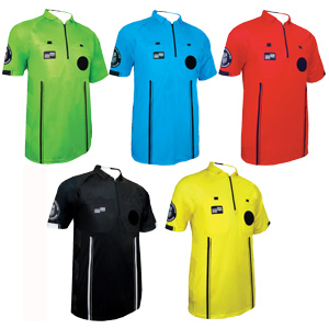 Official Sports PBSL Soccer League USSF Pro Referee Jersey - Black 9072Black