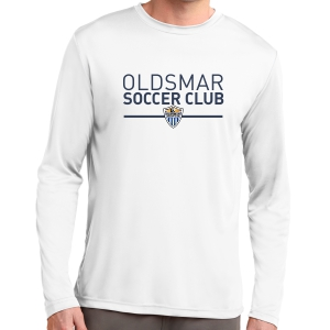 Oldsmar Soccer Club Long Sleeve Performance Logo Shirt - White ST350LS-OSCW