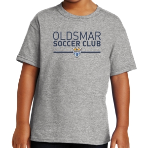 Oldsmar Soccer Club Youth T-Shirt - Sports Grey 5000B-OSCG