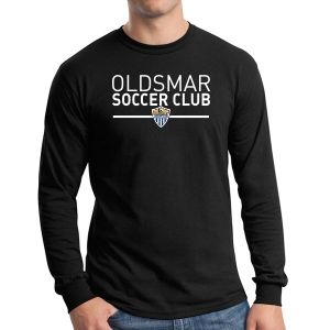 Oldsmar Soccer Club Long Sleeve T-Shirt - Black G5400-OSCB