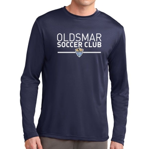 Oldsmar Soccer Club Long Sleeve Performance Shirt - Navy ST350LS-OSC