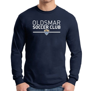 Oldsmar Soccer Club Long Sleeve T-Shirt - Navy G5400-OSC
