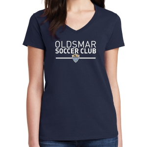 Oldsmar Soccer Club Women's T- Shirt - Navy G5000L-OSC