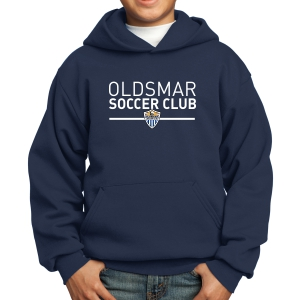 Oldsmar Soccer Club Youth Hooded Sweatshirt - Navy PC90YH-OSC