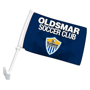 Oldsmar Soccer Club Custom Car Flag CRFL-OSC
