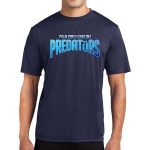 PBG Predators Short Sleeve Performance Shirt - Navy PBG-PTee