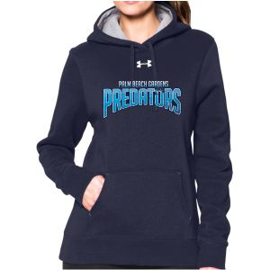 UnderArmour Women's Armour Fleece Team Hoodie - Navy - PBG Predators 1237619-W