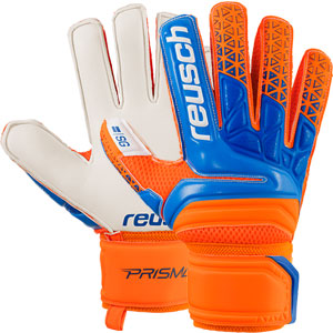 Reusch Prisma SG Finger Support Glove - Shocking Orange/Blue 3870810