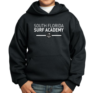 South Florida Surf Academy Youth Hooded Sweatshirt - Black PC90YH-SFS