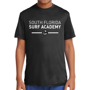 South Florida Surf Youth Short Sleeve Performance Shirt - Black YST350-SFS