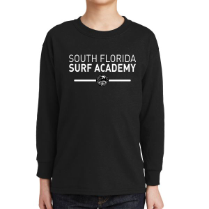 South Florida Surf Academy Youth Long Sleeve T-Shirt - Black 5400B-SFS