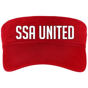 SSA United Visor - Red SSAVisor