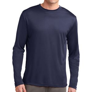Sport Tek Youth Long Sleeve Performance Shirt - Navy YST350LSNav