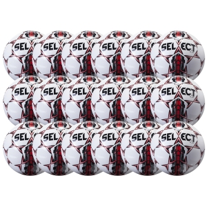 Select Club Ball - White/Red 18 Pack 02-559-856-18Pck