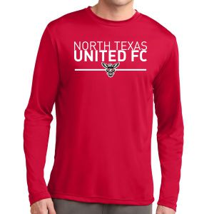 Texas United FC Long Sleeve Performance Shirt - Red ST350LSRTU