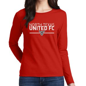 Texas United FC Women's Long Sleeve T-Shirt - Red G5400LRed