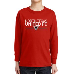 Texas United FC Youth Long Sleeve T-Shirt - Red 5400BRd