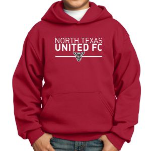 Texas United FC Youth Hooded Sweatshirt - Red PC90YHRd