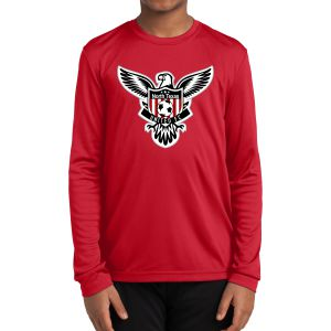 Texas United FC Youth Long Sleeve Performance Shirt - Red YLST350Red