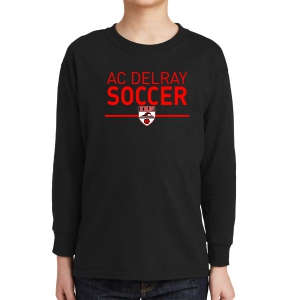 AC Delray Youth Long Sleeve T-Shirt - Black