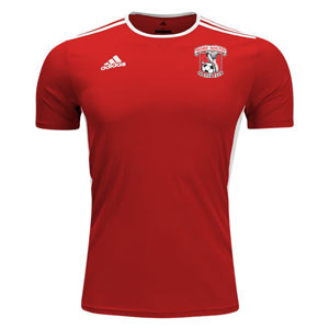 Hobe Sound Soccer Club adidas Youth Entrada 18 Training Jersey - Red/White CF1050-HS