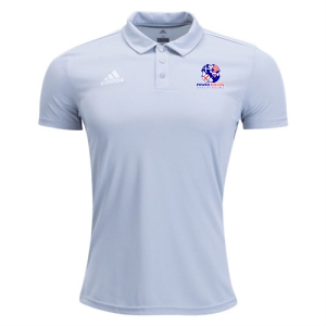 Power Soccer adidas Youth Core 18 Polo - Grey/White PSSOE-CV3682