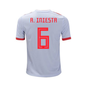 adidas Iniesta Spain Youth Away Jersey 2018 BR2694-Iniesta