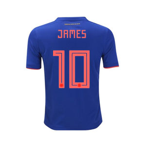 adidas James Colombia Youth Away Jersey 2018 BR3493-James