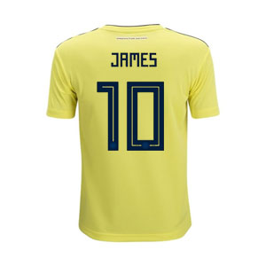 adidas James Colombia Youth Home Jersey 2018 BR3509-James