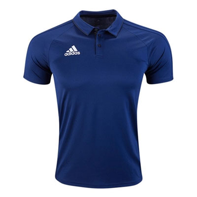 adidas Tiro 17 Polo - Dark Blue/White BQ2634