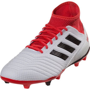 adidas Predators 18.3 FG - Running White/Coral Red CM7667
