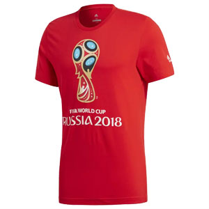 adidas World Cup Emblem Tee 2018 - Red CV6336