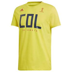 adidas Women's Colombia Fan T-Shirt 2018 CW1995