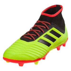 adidas Predators 18.2 FG - Solar Yellow/Black/Solar Red DB1997