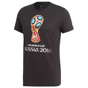 adidas World Cup Emblem Tee 2018 - Black DM1300