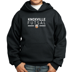 Knoxville Futsal Youth Hooded Sweatshirt - Black KNX-PC90YH