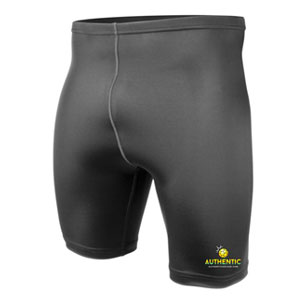Authentic Soccer Compression Shorts - Black AU-ComS