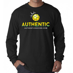 Authentic Soccer Long Sleeve T- Shirt - Black  AU-LTee
