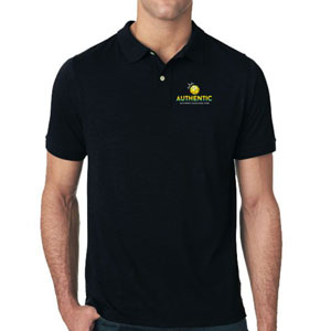 Authentic Soccer Polo Shirt - Black AU-Polo