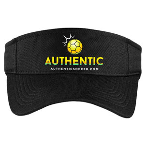 Authentic Soccer Visor - Black  AU-Visor