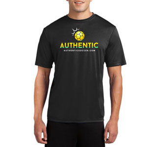 Authentic Soccer Short Sleeve Performance Shirt - Black  AU-PTee