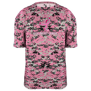 Badger Camo Kick Breast Cancer Tee - Pink/Digital 4180PK